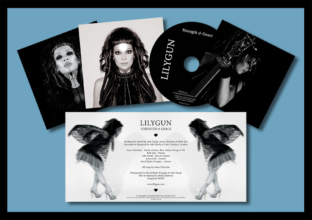 Lilygun - Strength & Grace album reissue limited edition gatefold CD. Design by WOW!