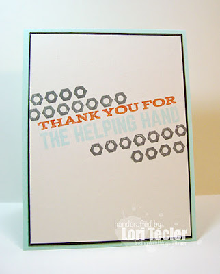 Thanks for the Helping Hand card-designed by Lori Tecler/Inking Aloud-stamps from My Favorite Things