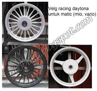 Gambar Velg Daytona Untuk Motor Mio, Vario, And Other Matic