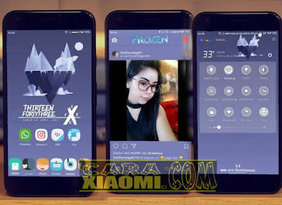 Screenshoot Tema Frozen By Farid Hudan Mtz For Miui Xiaomi Update Release