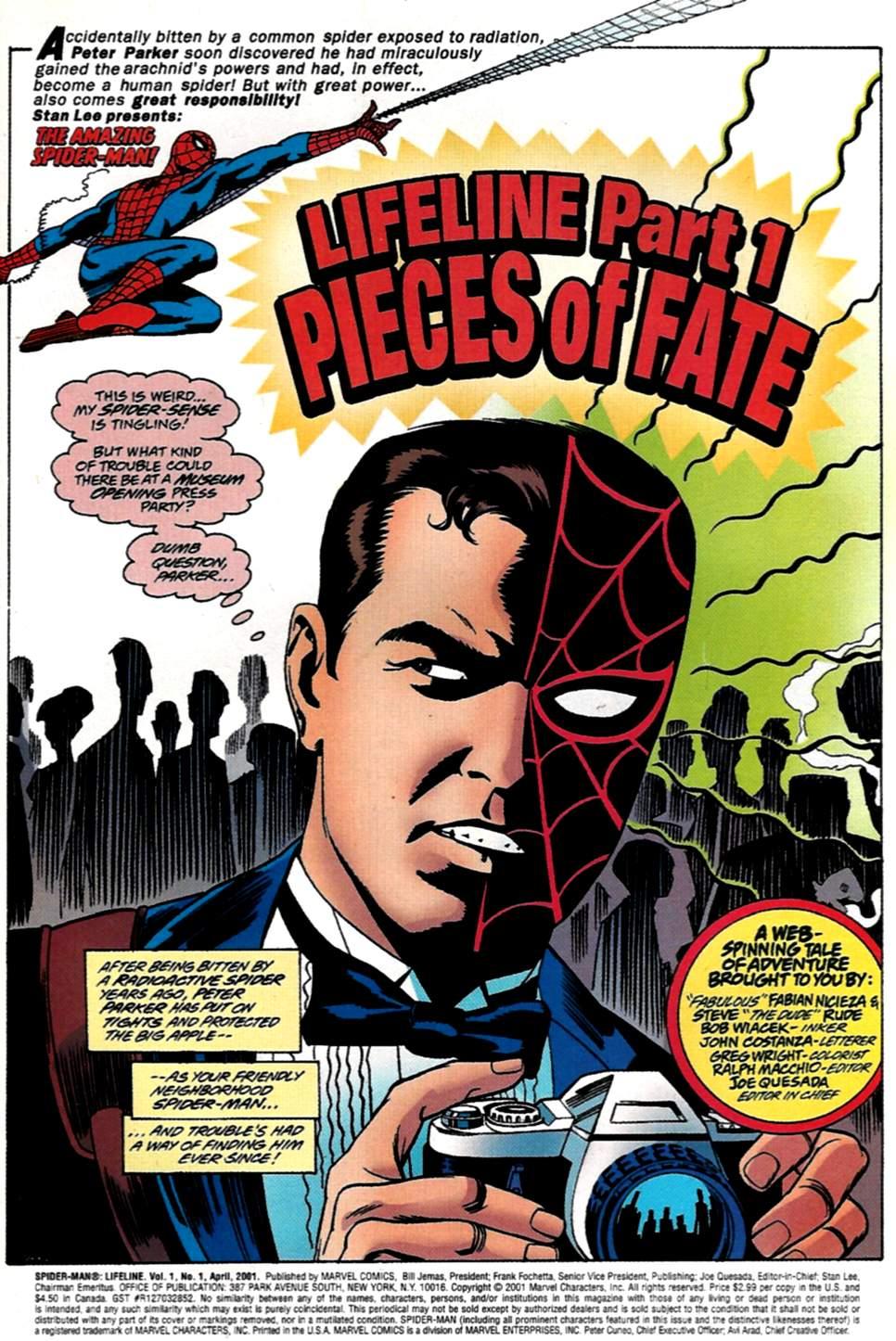 Read online Spider-Man: Lifeline comic -  Issue #1 - 2