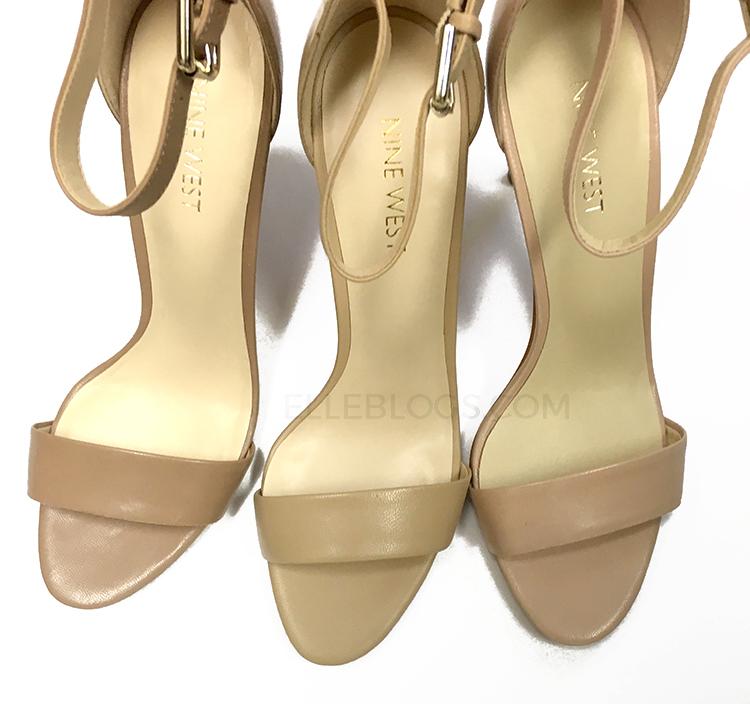 6677d5a59af0 Review  Nine West Mana Leather High-Heeled Sandals - Elle Blogs