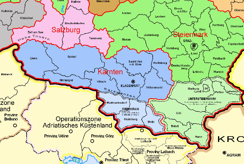1944 Verwaltungskarte Des Deutschen Reichs Historische