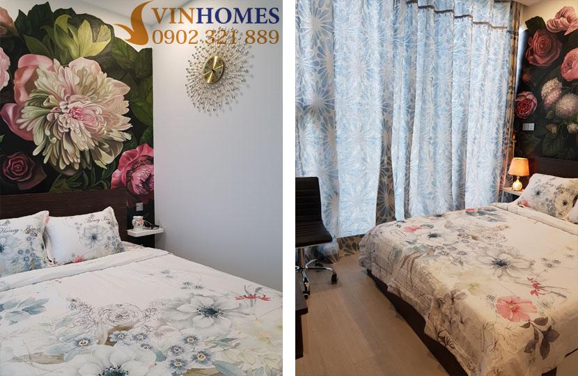 Căn hộ Vinhomes 3PN cho thuê Landmark 4 nội thất mới - phòng ngủ