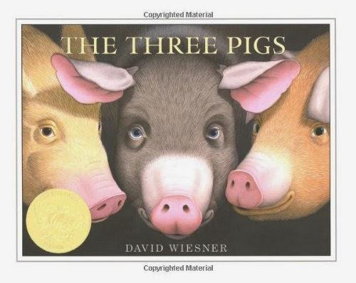 http://www.amazon.com/Three-Pigs-David-Wiesner/dp/0618007016/ref=sr_1_1?ie=UTF8&qid=1422377607&sr=8-1&keywords=david+weisner+3+pigs