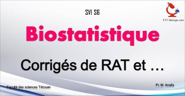 Corrigé d'Examens de Statistique SVI S6 PDF
