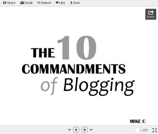 Labels: 10 commandments of blogging , blogging slideshow