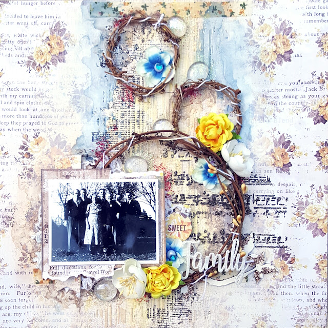 Family Vintage Mixed Media Scrapbook Layout Jessica McFall