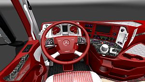 Red and Wihte Interior for Mercedes MP4