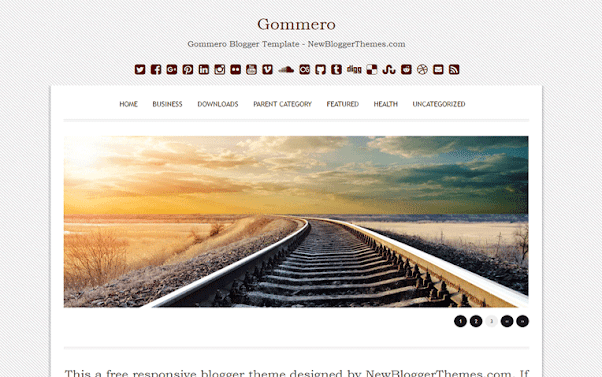 Gommero Free Blogger Template