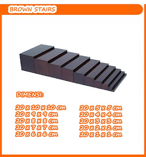 Balok Brown Stairs Mainan Kayuku