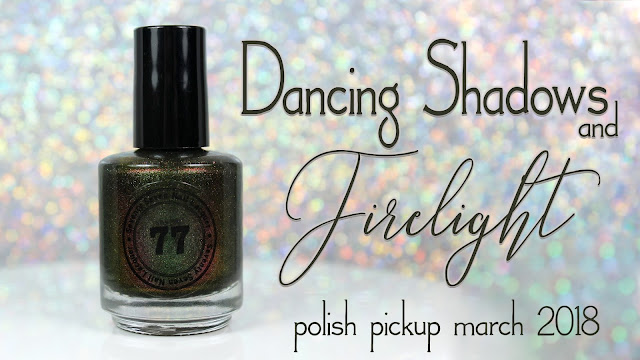 Seventy Seven Nail Lacquer Dancing Shadows and Firelight | Polish Pickup March 2018 | Books