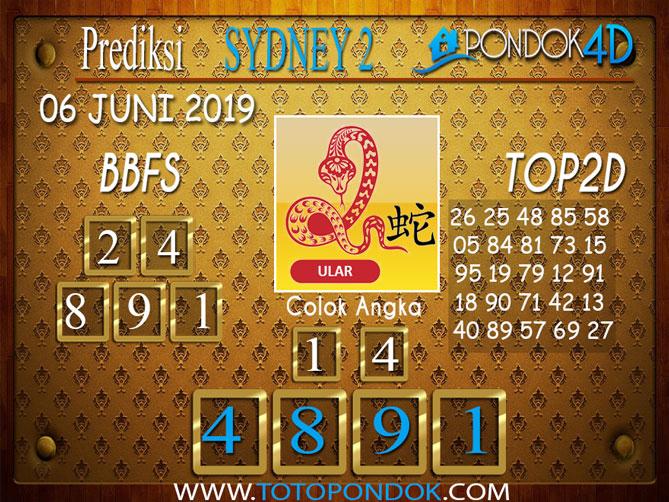 Prediksi Togel SYDNEY 2 PONDOK4D 06 JUNI 2019
