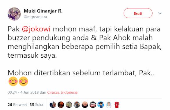 Kelakuan Buzzer Jokowi Bikin Pemilih Setia Pada Kabur