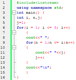 nested Loop Bahasa c++