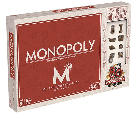 Monopoly 80th anniversary edition 2015