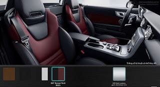 Nội thất Mercedes AMG SLC 43 2016 màu Đen/Đỏ Bengal 867
