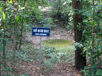 Bomb craters of the Vietnam War in Cu Chi Tunnels