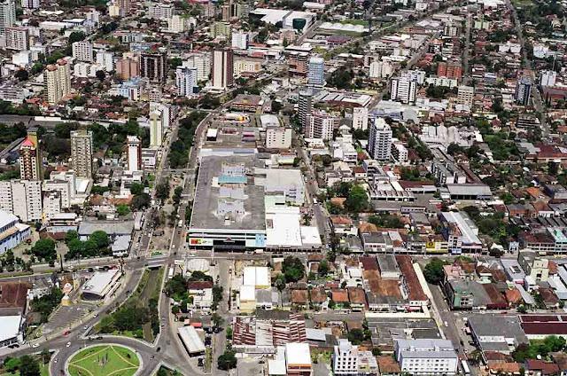 vista aérea de Novo Hamburgo - RS