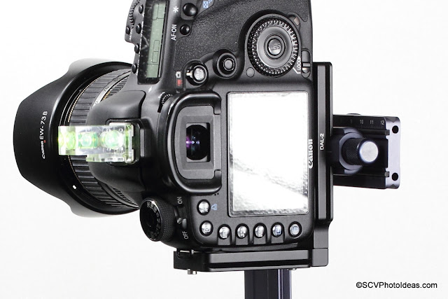 Mounting a Canon EOS 7D on the horizontal arm via Q Mount