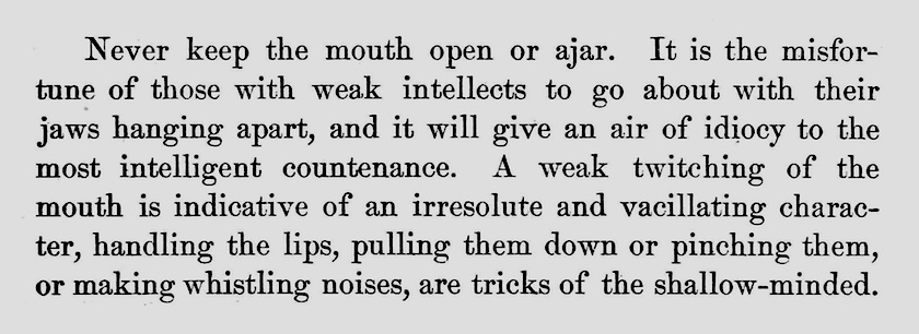 1881 etiquette