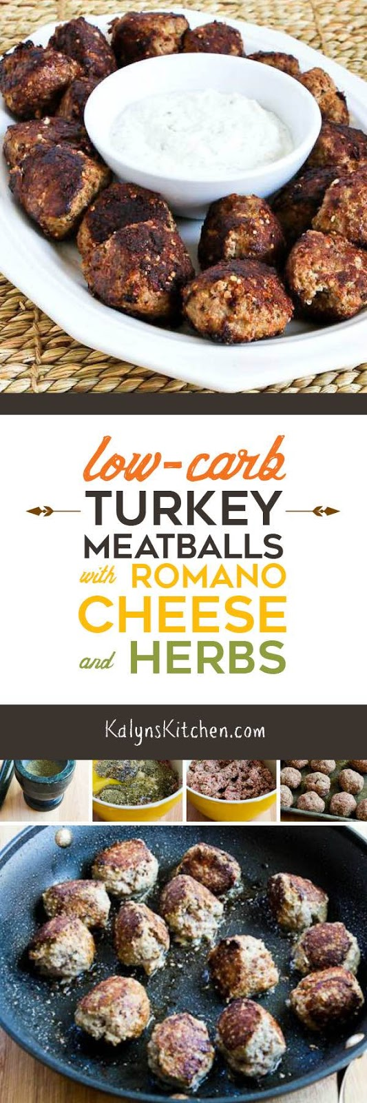 ... Kitchen®: Low-Carb Turkey Meatballs with Romano Cheese and Herbs
