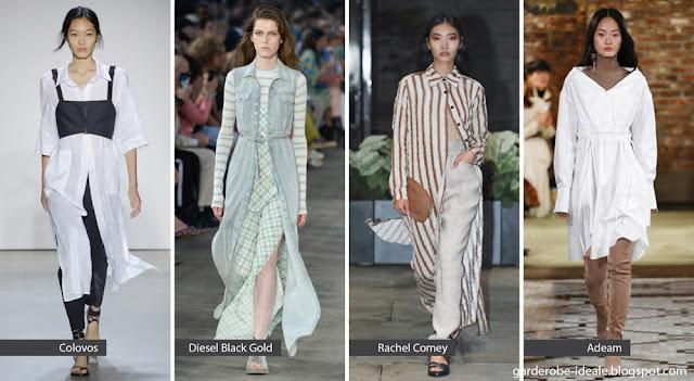 Платья-рубашки на подиуме весна-лето 2018