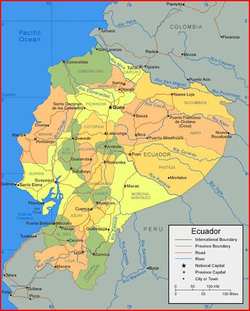 Gambar Peta Ekuador