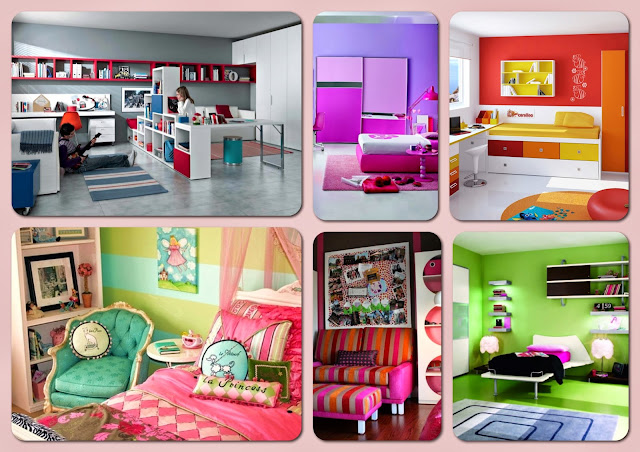 Colorful Teenagers Bedrooms