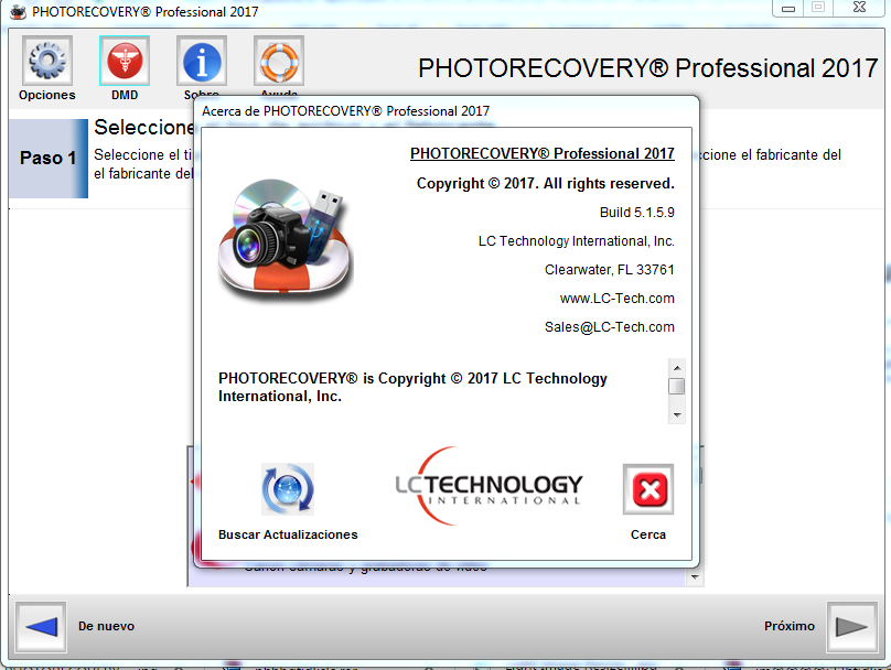 Descargar PHOTORECOVERY Professional