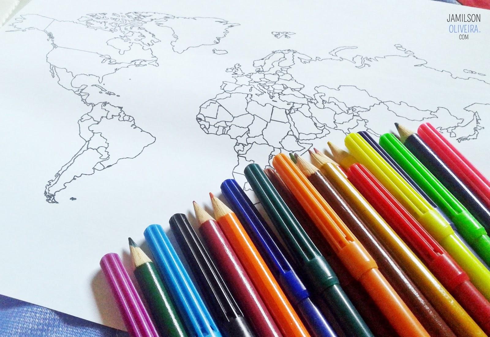 Usando mapas para decoração - Jamilson Oliveira Blog