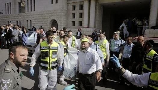 Palestinos asesinan israelíes en sinagoga