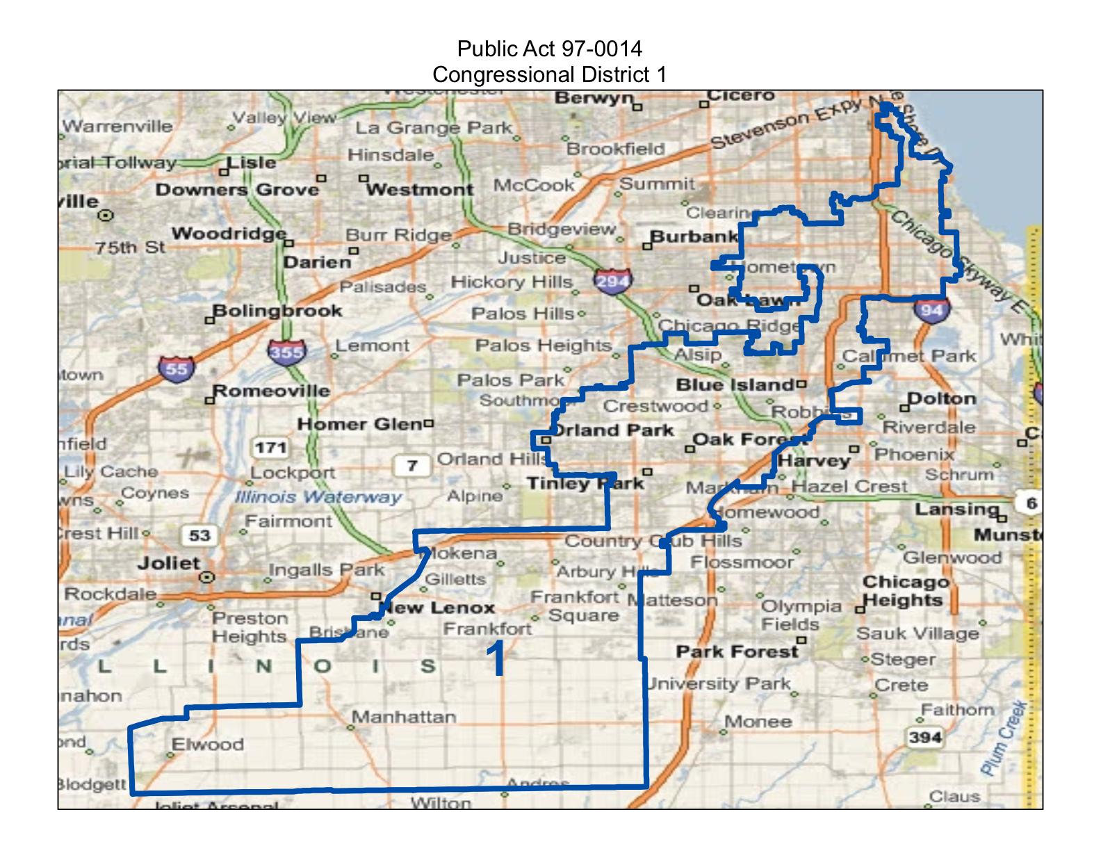 map of new illinois first congressional district