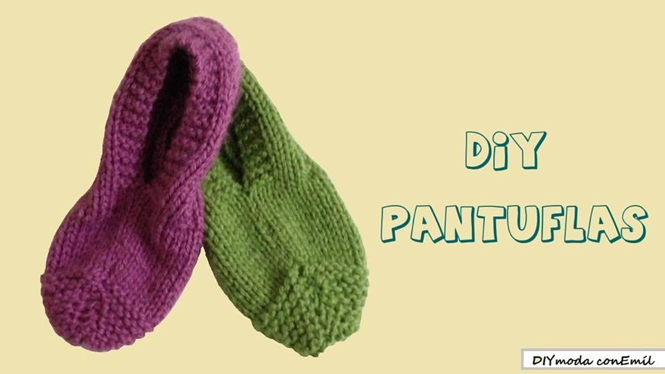 DIYmoda conEmíl: Pantuflas a dos agujas