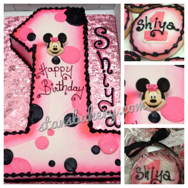 Minnie Mouse Birthday Cake For 1 Year Old Http Dimitrastories Blogspot Com
