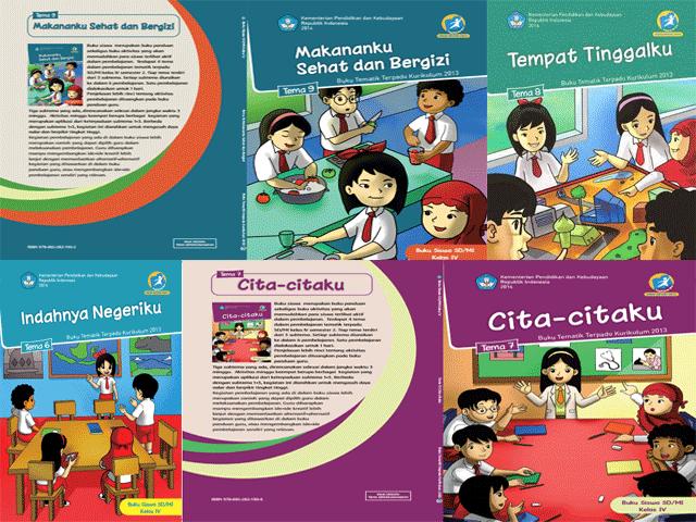 Download Buku Guru dan Siswa Kelas 1 dan 4 Kurikulum 2013 Semester 2 Edisi Revisi 2016