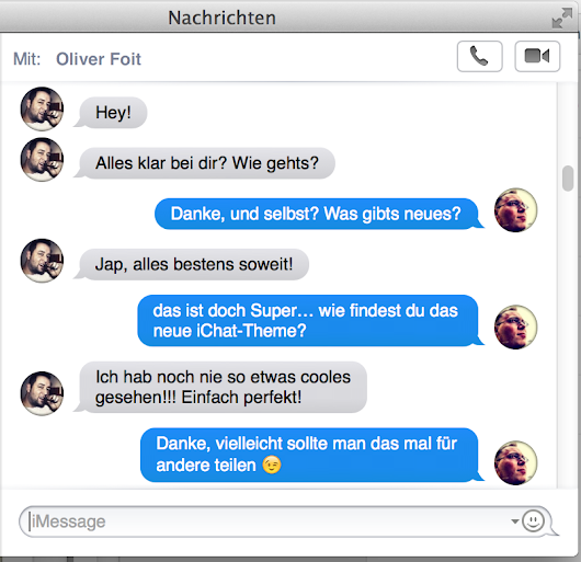 iMessage (Mac OS X) Optik an iPhone anpassen