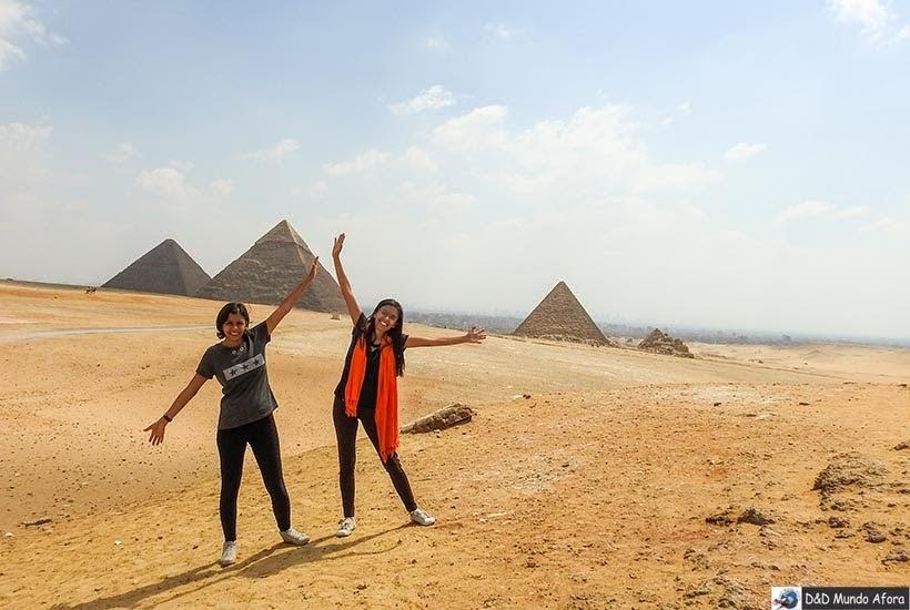 Mirante de frente para as pirâmide de Gizé - Diário de Bordo: 2 dias no Cairo