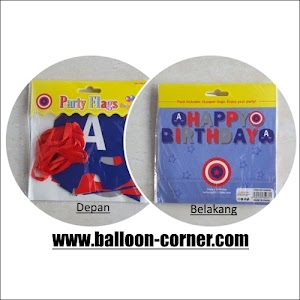 Bunting Banner HAPPY BIRTHDAY Motif Captain America