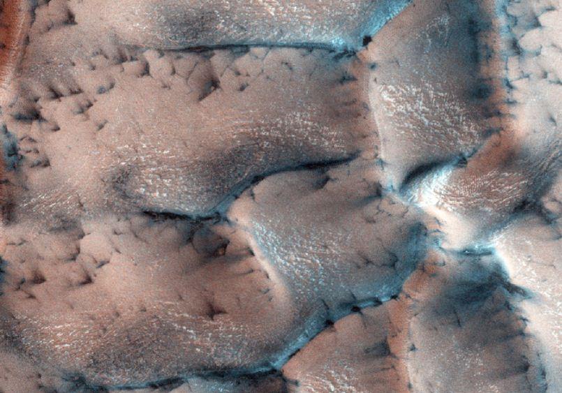 На Марс пришла зима. Фото NASA