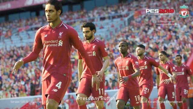 Liverpool 2019 Start Screen PES 2018