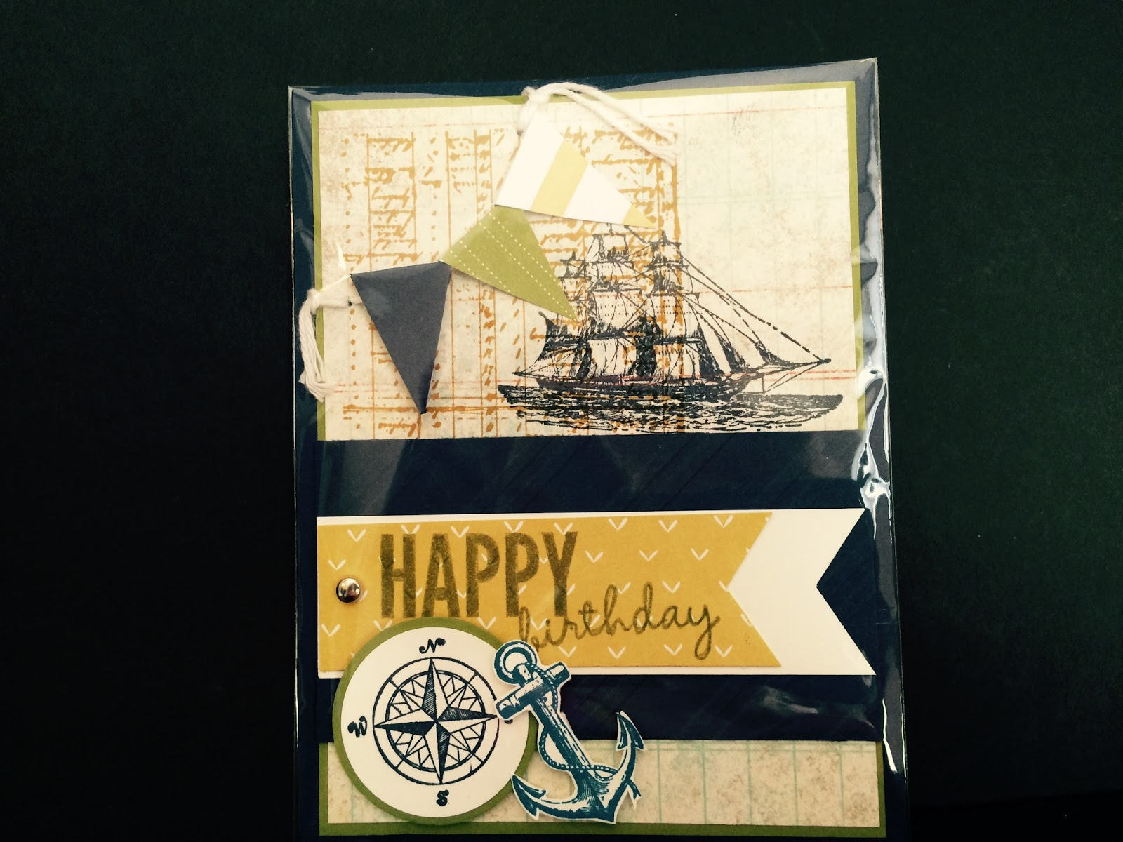 barb s paper pizzazz happy birthday with a masculine flavor