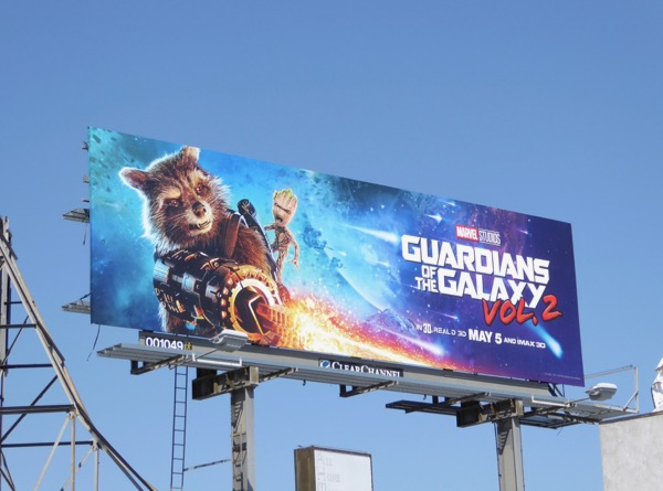 Guardians of the Galaxy 2 Rocket Groot billboard