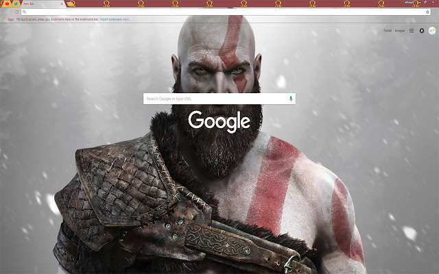 Kratos God of War Video Game Install Theme FOR Chrome 2018