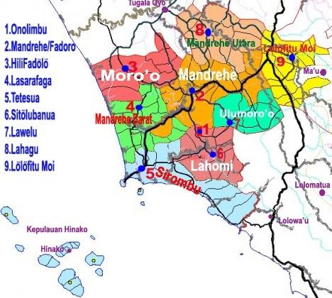 TAKJUB INDONESIA: PETA KECAMATAN-KECAMATAN DI KABUPATEN ...