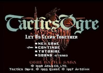 tactics ogre psx