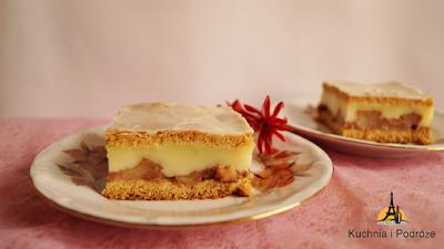 Ciasto jabłkowo-budyniowe
