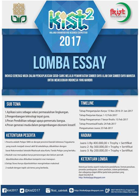 Info Lomba Essay Terbaru