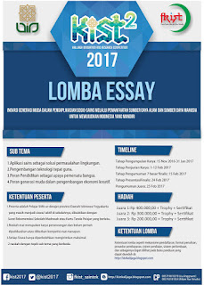 Lomba Essay KIST Tingkat SMA/MA/SMK Se-DIY 2016-2017