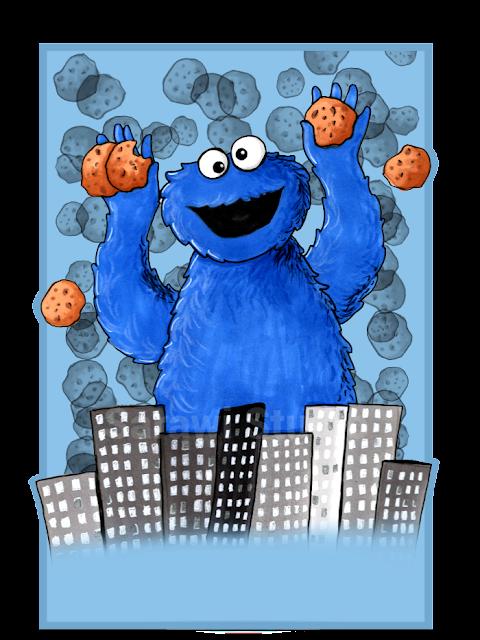 ulice sezamkowa, sezame street, cookie monster, ciasteczkowy potwór, bajka, miasto ciasteczka, cookies, more cookies, rysunek, promarker, 30 day, comcom!!, drawing challenge,
